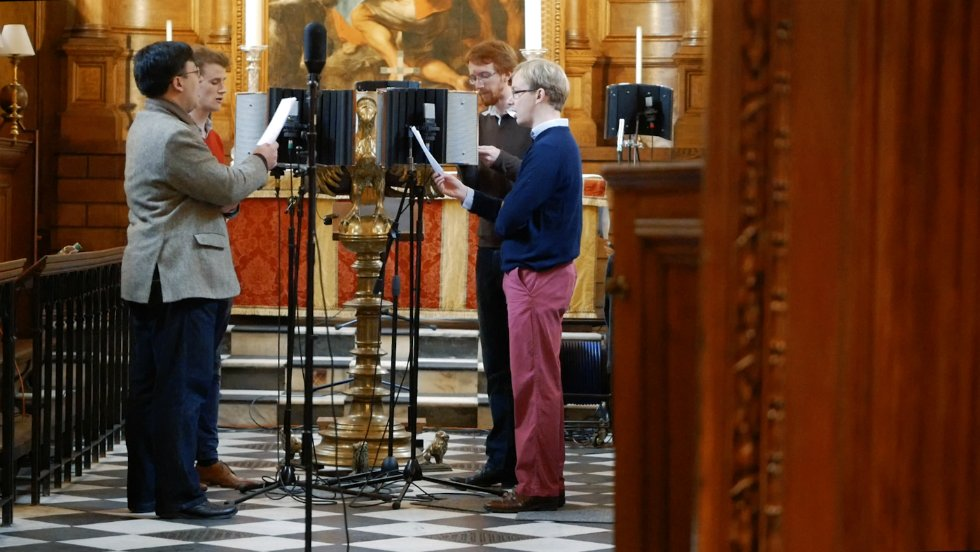 Recording for The Vyne's chapel soundscape