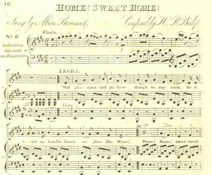 Henry Bishop - Home! Sweet Home