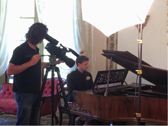 Filming 'Sweet Noise: Making Music at Vaucluse House'
