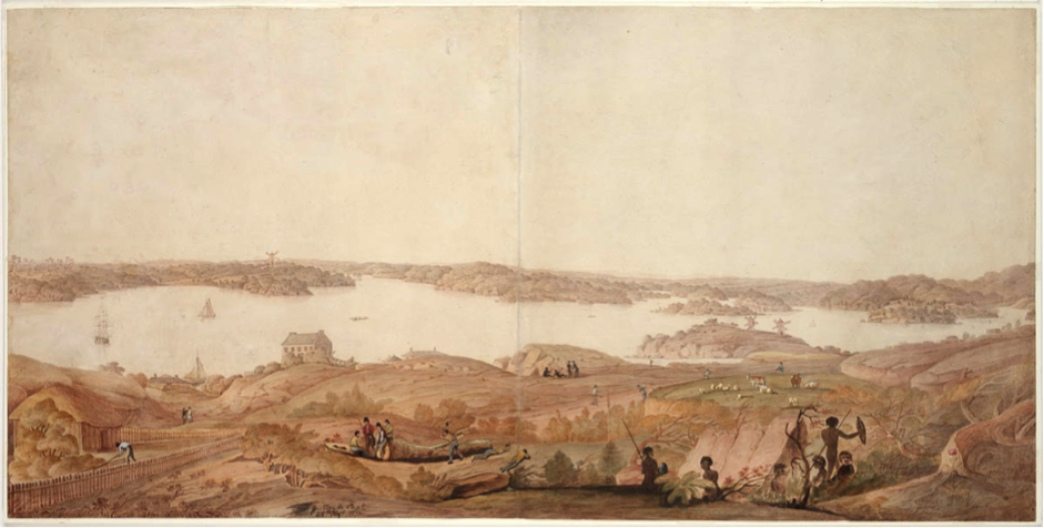 James Taylor, Cockle Bay now Darling Harbour, ca. 1819-20, ML 941, State Library of NSW