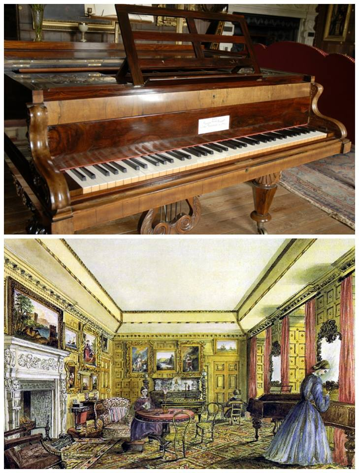 The Vyne piano c.1860 and today