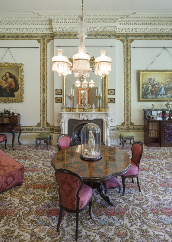 Vaucluse House Drawing Room. Vaucluse House Collection, Sydney Living Museums. Photo (c) Rob Little / RLDI