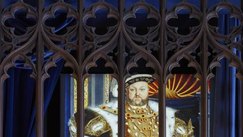 The Vyne - illuminated image of Henry VIII cDennis Gilbert