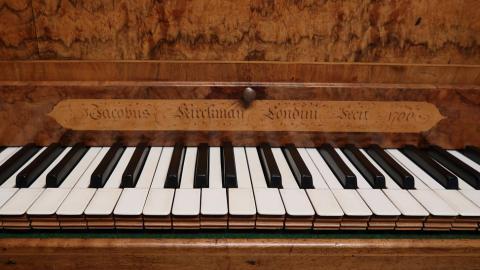 keyboard of Kirkman harpsichord