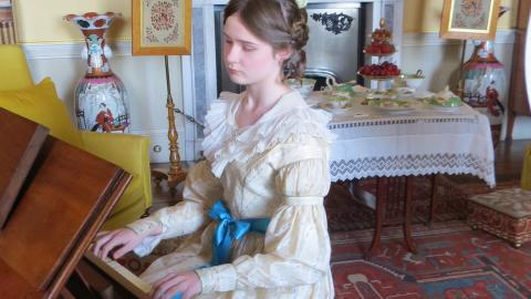 Dettmer square piano at Tatton Park