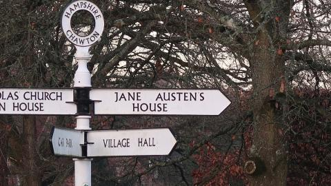 Sign for Jane Austen's House