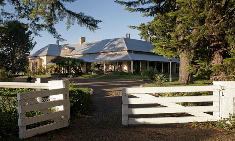 View of Lanyon Homestead through the gates
