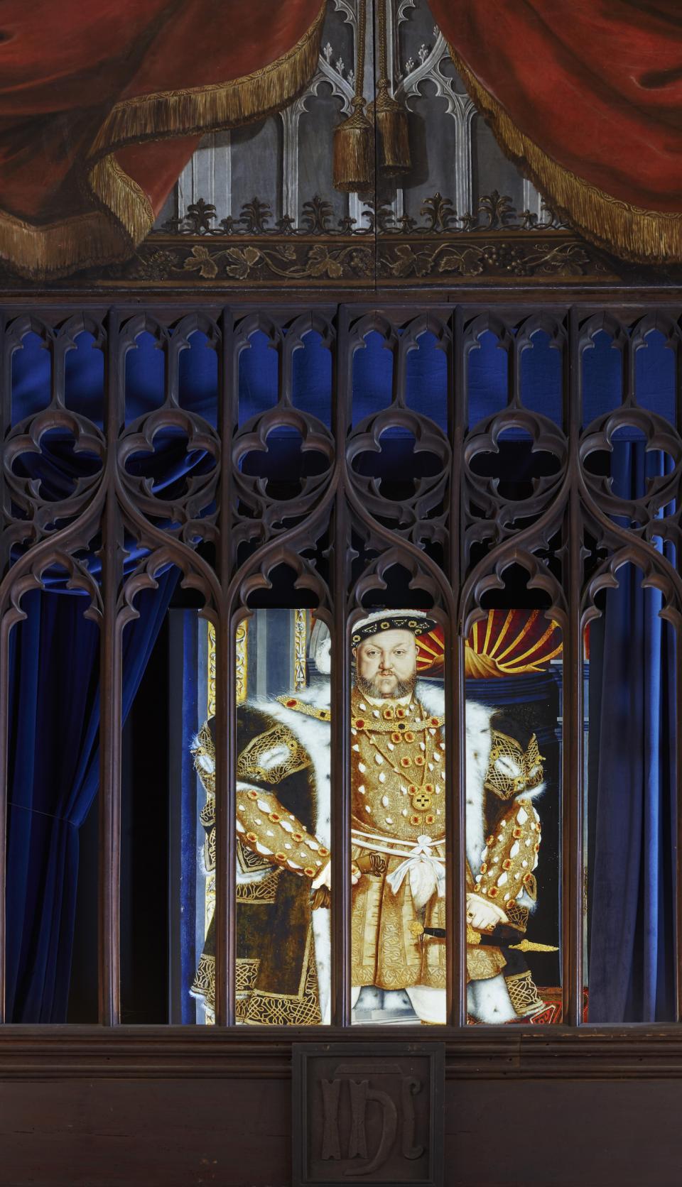 The Vyne - illuminated image of Henry VIII cDennis Gilbert