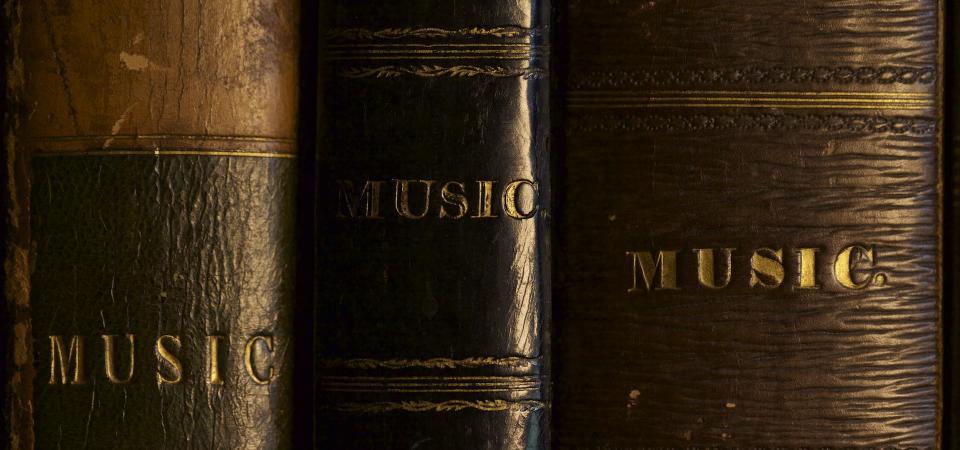 Music books at Tatton Park - photo Aura Satz
