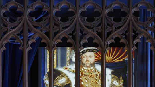 The Vyne - illuminated image of Henry VIII